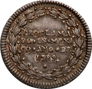 ½ Real - Carlos IV (Proclamation Coinage) – reverse
