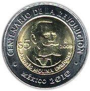 5 Pesos (Andrés Molina Enríquez) -  reverse