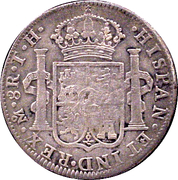 8 Reales (LINARES - Insurgent countermarked coinage) -  reverse