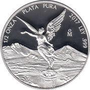 "½ Onza ""Libertad"" (Silver Bullion Coinage) -  reverse"