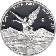 "1 Onza ""Libertad"" (Silver Bullion Coinage) -  reverse"