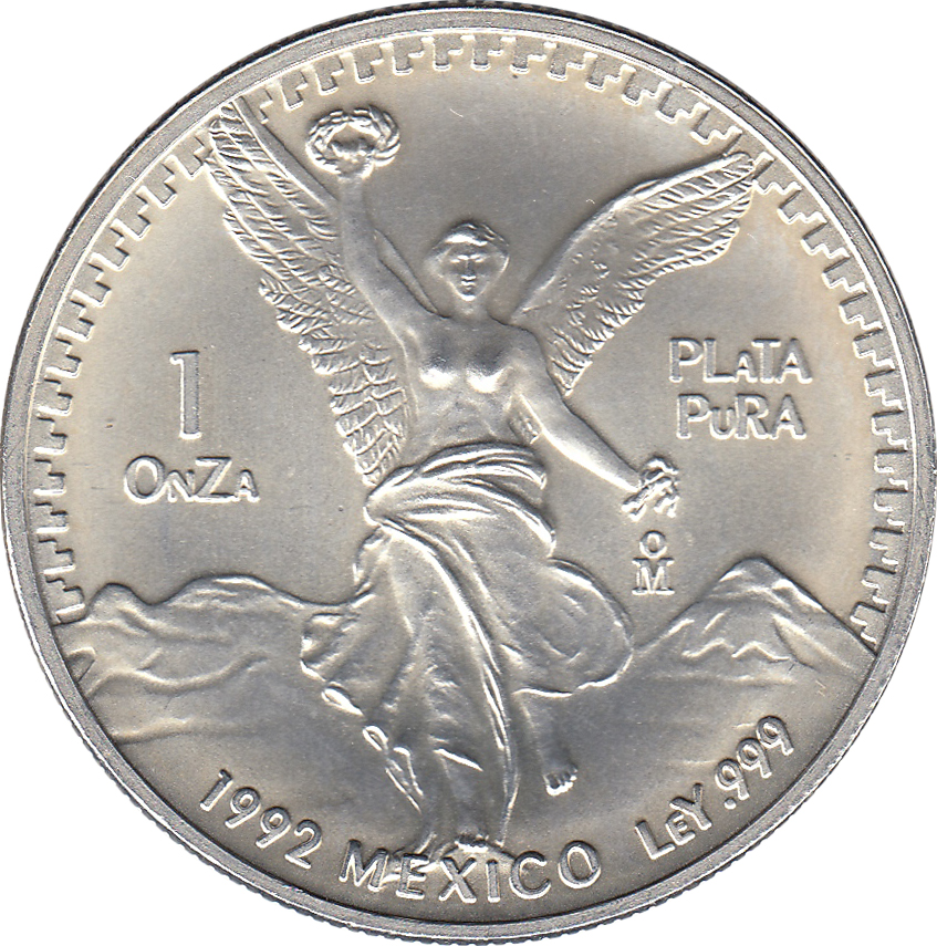 1 Onza Quot Libertad Quot Silver Bullion Coinage Mexico Numista
