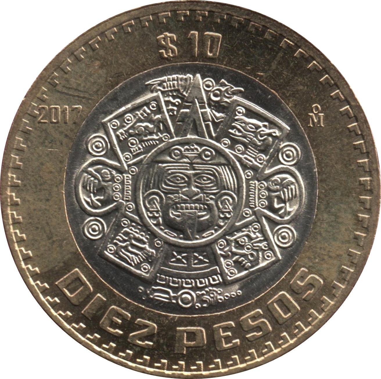 Mexico P-58i 10 Pesos Year 8.11.1961 Uncirculated Banknote