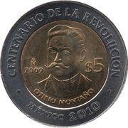 5 Pesos (Otilio Montaño) -  reverse