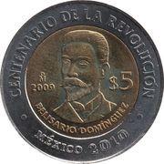 5 Pesos (Belisario Domínguez) -  reverse