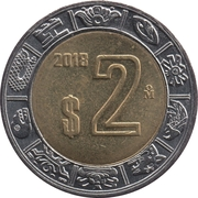2 Pesos -  reverse