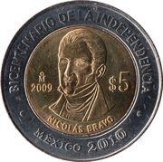 5 Pesos (Nicolás Bravo) -  reverse