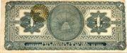 1 Peso (Provisional Government of Mexico) – reverse