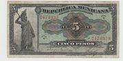 5 Pesos ( República Mexicana - Gobierno Constitucionalista) – obverse