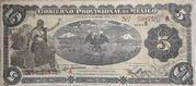 5 Pesos (Gobierno Provisional de Mexico) – obverse