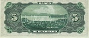 5 Pesos (Guerrero) – reverse