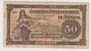 50 Centavos (Gobierno Convencionista de Mexico) – obverse