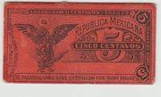 5 Centavos Gobierno Provisional de Mexico – reverse