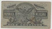 10 centavos Gobierno Provisional de Mexico – reverse