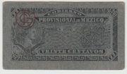 20 centavos  Gobierno Provisional de Mexico – obverse