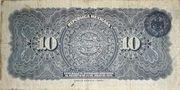 10 Pesos (República Mexicana; Gobierno Constitucionalista) – reverse
