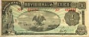 1 Peso (Provisional Government of Mexico) – obverse