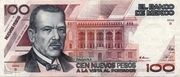 100 Nuevos Pesos (B series) -  obverse