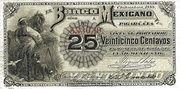 25 Centavos 1888 (Banco Mexicano) – obverse