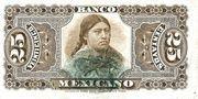 25 Centavos 1888 (Banco Mexicano) – reverse