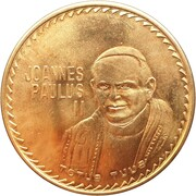 Medal - Ioannes Paulus II (Papal Visit To Mexico) – obverse