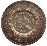 "Medal - 1979 John Paul II Mexico Visit ""Papal Peso"" – obverse"