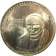 Token - Ioannes Paulus II (Papal Visit To Mexico) – obverse