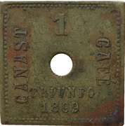 1 Canast - Mexican coffee harvester token – reverse