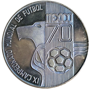Mexico 1970 World Cup – obverse