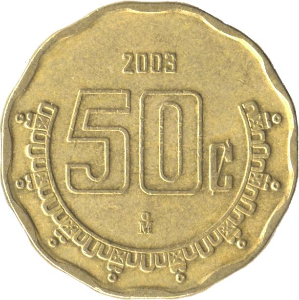 50 Centavos (large type) - Mexico – Numista