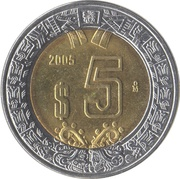 5 Pesos -  reverse