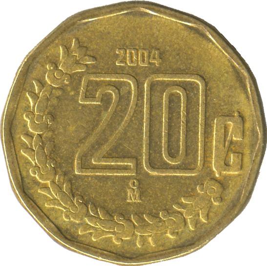 20 Centavos Large Type Mexico Numista