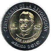 5 Pesos (Luis Cabrera) -  reverse