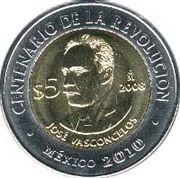 5 Pesos (José Vasconcelos) -  reverse