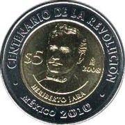 5 Pesos (Heriberto Jara) -  reverse
