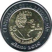 5 Pesos (Ricardo Flores Magón) -  reverse