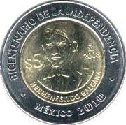 5 Pesos (Hermenegildo Galeana) -  reverse