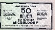 50 Heller (Micheldorf) -  reverse