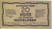 20 Heller (Micheldorf) -  reverse