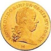 ½ Sovrano - Leopold II – obverse