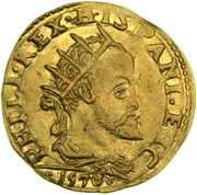 1 Doppia - Filippo II – obverse