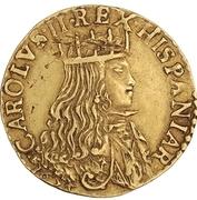 1 Doppia - Carlo II – obverse