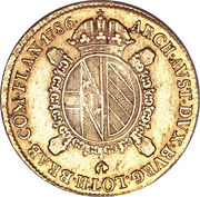 1 Sovrano - Joseph II – reverse