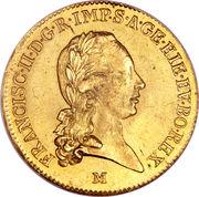 1 Sovrano - Franz II – obverse