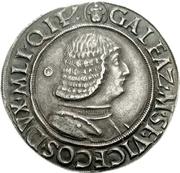 1 Testone - Galeazzo Maria Sforza – obverse