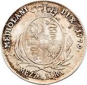 ½ Lira - Maria Theresia – reverse