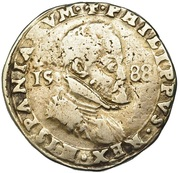 ½ Scudo - Filippo II – obverse