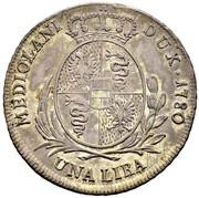 1 Lira - Maria Theresia – reverse
