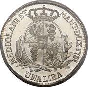 1 Lira - Joseph II – reverse