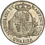 1 Lira - Leopold II – reverse